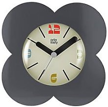 Orla Kiely House Flower Alarm Clock - Charcoal