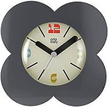 Orla Kiely House Flower Alarm Clock - Charcoal