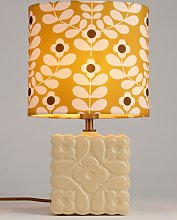 Orla Kiely Juniper Stem Ceramic Table Lamp, Yellow