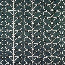 Orla Kiely Linear Stem Cool Grey Curtain and