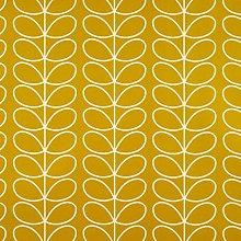 Orla Kiely Linear Stem Dandelion Yellow Curtain