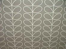 Orla Kiely Linear Stem Silver Designer Cotton