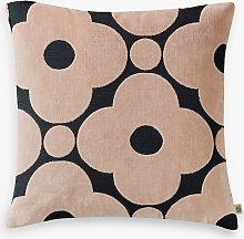 Orla Kiely Velvet Spot Flower Cushion, Grey / Pink