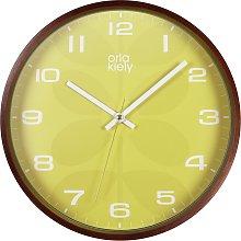 Orla Kiely Wooden Wall Clock - Mustard