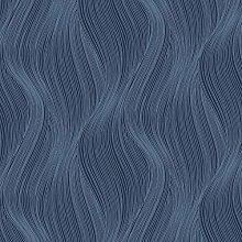 Orla Wave Glitter Wallpaper Blue Muriva 153105