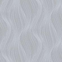 Orla Wave Glitter Wallpaper Grey Muriva 153106