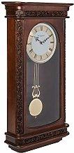 Ornate Wooden Rosewood Pendulum Clock with Satin