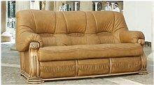 Oropesa 3 Seater Italian Leather Sofa Settee Camel