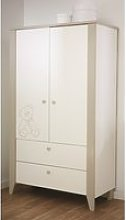 Orsang Childrens Wardrobe In White With 2 Doors