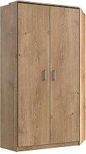 Osaka Wooden Corner Wardrobe In Planked Oak