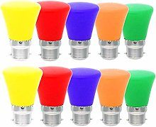OSALADI 10pcs LED Colored Bulb Energy Saving Bulb