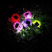 OSALADI 12pcs Garden Solar Lighting Flowers Solar