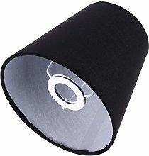 OSALADI 1Pc Black Cloth Lampshade Lamp Cover
