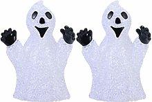 OSALADI 2pcs Ghost Halloween Night Lamp 7 Colors