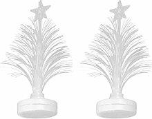 OSALADI 2pcs LED Fiber Optic Lights Christmas Tree