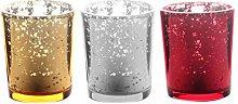 OSALADI 3pcs Mercury Glass Votive Candle Holders