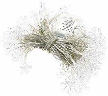 OSALADI 80 LED Christmas Snowflake String Lamp