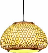 OSALADI Bamboo Chandelier Lamp Rattan Ceiling