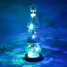 OSALADI Christmas Night Light Tree Shaped Glass