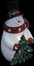 OSALADI Christmas Snowman Light with Lighted Tree