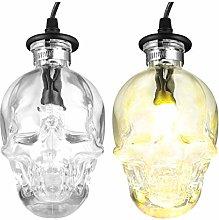 OSALADI Glass Skull Pendant Light Skull Shade