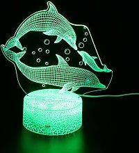OSALADI LED Night Light Whale 3D Night Light with