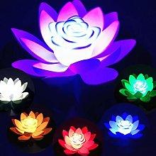 OSALADI Lotus Floating Light Waterproof Lotus
