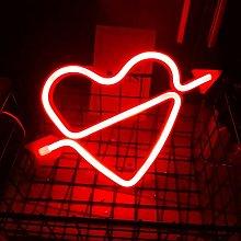 OSALADI Neon Light Sign Led Wall Light Heart Neon