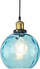 OSALADI Simple Wavy Hammered Glass Pendant Light