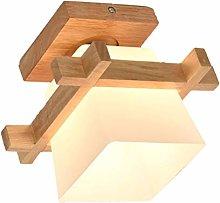 OSALADI Wood Pendant Light Modern Lantern Lighting