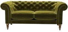 Oscar 2.5 Seat Sofa in Olive Cotton Matt Velvet