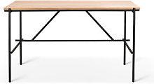 Oscar Desk - / Solid oak & metal - 140 x 70 cm by