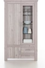 Oscar Display Cabinet In Nelson Oak With LED