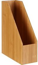 Osco Bamboo Magazine File Rack