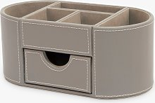 Osco Faux Leather Desk Organiser