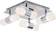 Oslo LED 8 Light Crackle Ceiling Fitting