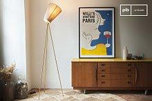 Oslo Wood Tripod Floor Lamp