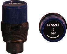 OSO - 8 Bar Blue Rubber Seat Pressure Relief