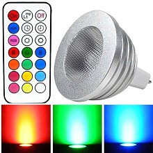 OSSUN Pack of 6 x Dimmable 4W MR16 12 Colours