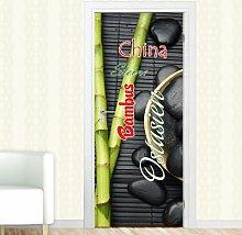 Ostasien, Steine Door Sticker East Urban Home