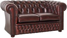 Ostrander Leather 2 Seater Chesterfield Sofa