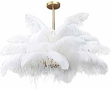 Ostrich Feather Ceiling Light,3 Light White