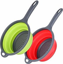 Ostrichy Collapsible Colander, Food-Grade Silicone