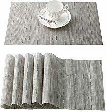 OSVINO 6 Pcs Stylish Multi-color Bamboo Braided