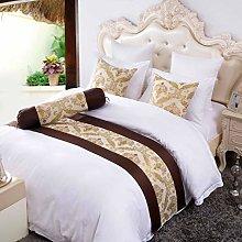 OSVINO Golden Jacquard Polyester Dustproof Bed