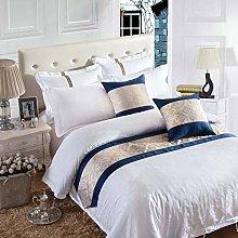 OSVINO Modern Floral Lattice Patterns Bed Runner