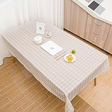 OSYARD Tablecloth White Grid Large Rectangle Table