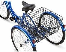OTENGD Folding Rear Bike Basket, Wire Mesh Fold-Up