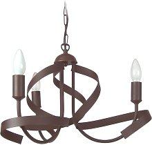 Othello 3-Light Candle Style Chandelier Mercury