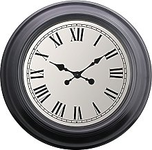 Other Extra Large Wall Clock Vintage Retro Black